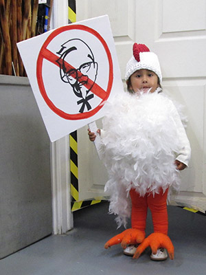 Protesting Chicken Halloween costume